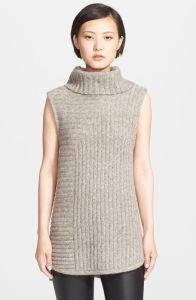 chunky sleeveless turtleneck